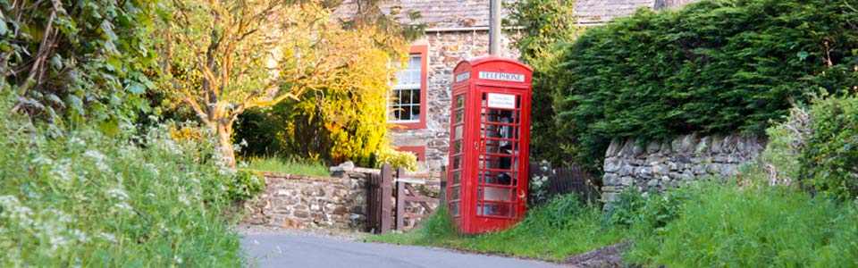 Photo: telephone box near the cottage